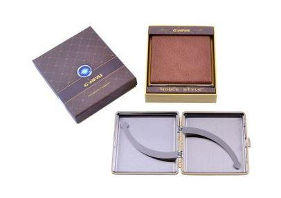 Портсигар в подарочной упаковке GVIPAI (Кожа, на 20 шт) №XT-4986-9