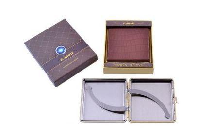 Портсигар в подарочной упаковке GVIPAI (Кожа, на 20 шт) №XT-4986-2