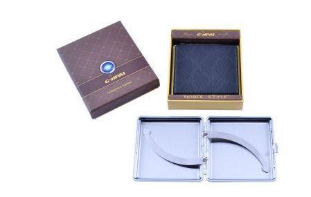 Портсигар в подарунковій упаковці GVIPAI (Шкіра, 20 шт) №XT-4980-4