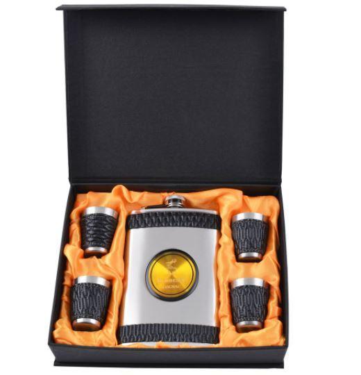 Подарочный набор с флягой Hennessy (Кожа) №GT-16-10