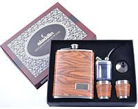Подарочный набор с флягой для мужчин 5х1 (Кожа) №DJH-0726