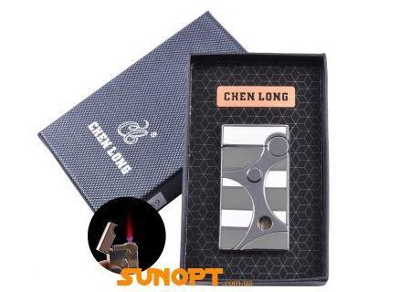Запальничка в подарунковій упаковці CHEN LONG (Турбо полум'я) №XT-4059 Silver