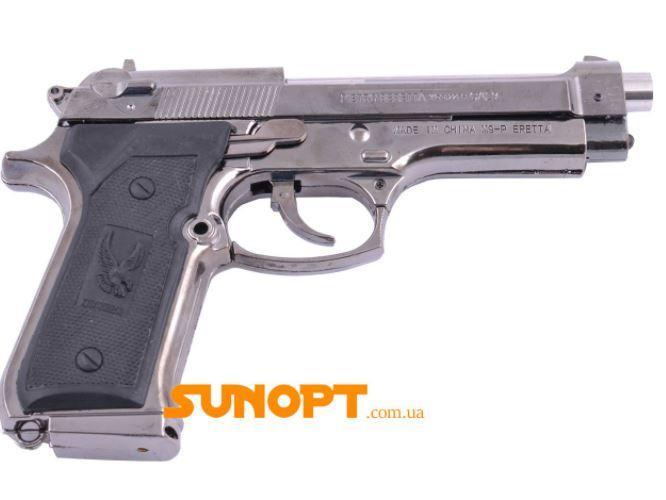 Зажигалка сувенирная Пистолет в Кобуре М-9 (Турбо пламя) №XT-3728