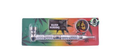 Курительная трубка + Гриндер (Металл) №HL-YD-473-1