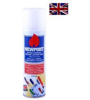 Газ для заправки запальничок високого очищення Newport 250 мл (Англія)