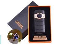 Электроимпульсная зажигалка в подарочной коробке LIGHTER (USB) №HL-123 Black