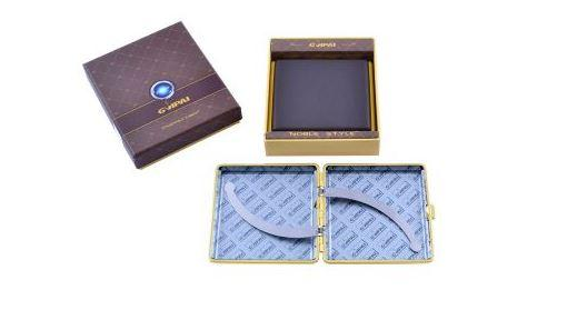 Портсигар в подарочной упаковке GVIPAI (Кожа, на 20 шт) №XT-4979-9