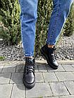 Жіночі черевики шкіряні зимові чорні Yuves, фото 2