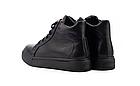 Жіночі черевики шкіряні зимові чорні Yuves, фото 4