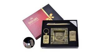 Подарочный набор с пепельницей Волк Зажигалка/Брелок/Ручка №YJ-6441
