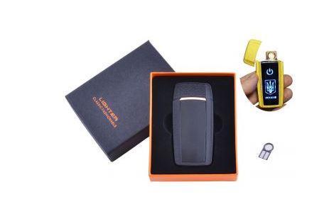 USB зажигалка в подарочной упаковке Украина (Спираль накаливания) №HL-56 Black
