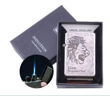 Зажигалка электронная Lion (Острое пламя) №4323