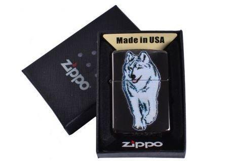 Зажигалка бензиновая Zippo Волк в подарочной упаковке №4734