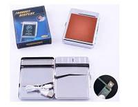 Портсигар+USB зажигалка на 20 сигарет (Спираль накаливания) №4978-7