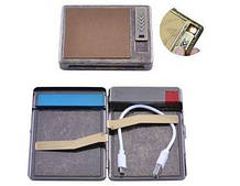 Портсигар подарочный с USB зажигалкой (Спираль накаливания, 20 сигарет) №HL-8001-6