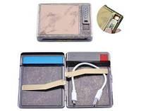 Портсигар подарочный с USB зажигалкой (Спираль накаливания, 20 сигарет) №HL-8001-1