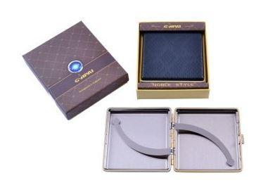 Портсигар в подарочной упаковке GVIPAI (Кожа, на 20 шт) №XT-4986-7