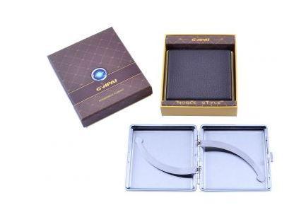 Портсигар в подарунковій упаковці GVIPAI (Шкіра, 20 шт) №XT-4980-8