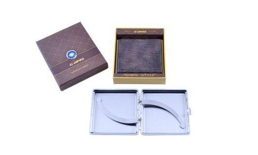 Портсигар в подарочной упаковке GVIPAI (Кожа, на 20 шт) №XT-4980-6