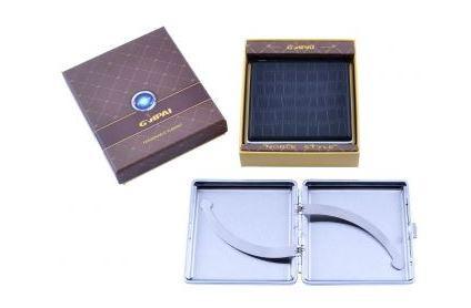 Портсигар в подарочной упаковке GVIPAI (Кожа, на 20 шт) №XT-4980-3