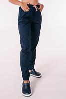 Медицинские штаны Парма темно-синие (манжет)