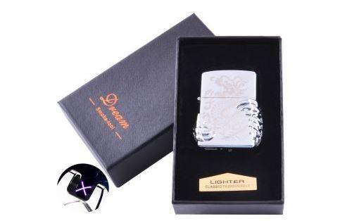 Электроимпульсная зажигалка в подарочной коробке Дракон №HL-119-5