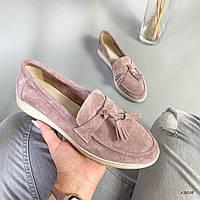 Стильные женские туфли, мокасины из натуральной замши, удобные, хит продаж. Новинка, обувь демисезонная 2020