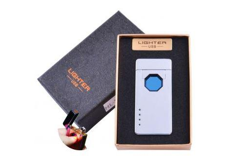 Электроимпульсная зажигалка в подарочной упаковке Lighter (Двойная молния, USB) №HL-51-1
