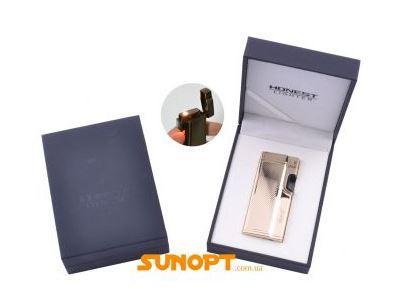 Зажигалка электронная в подарочной коробке Honest (Турбо пламя) №XT-3536-4