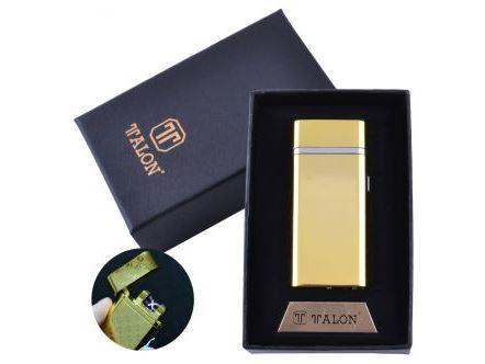 Электроимпульсная зажигалка в подарочной упаковке TALON (Двойная молния, USB) №HL-30-4