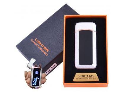 Зажигалка в подарочной коробке Волк (Двойная молния) №HL-58 White