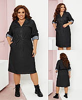 Жіноче плаття,тканина матеріал: джинс туреччина високої якості (48-58)