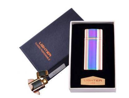 USB зажигалка в подарочной упаковке Lighter (Спираль накаливания) №HL-45-2