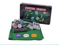 Набір для покеру 300 фішок з номіналом в металевій коробці