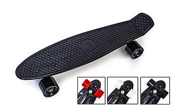 Пенни Борд Penny board 22Д Черный цвет Матовые колеса