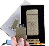 """USB зажигалка в подарочной упаковке """"CHANEL"""" (спираль накаливания) №4796A-1"""