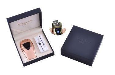 Электроимпульсная зажигалка в подарочной упаковке ArcCigarette (Двойная молния, USB) №HL-39 Gold