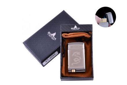 Зажигалка в подарочной коробке BAOFA (Турбо пламя)  №4293 Black
