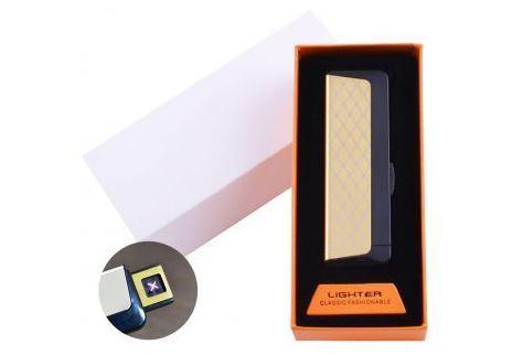 Электроимпульсная зажигалка в подарочной упаковке Абстракция (Двойная молния, USB) №HL-61-3