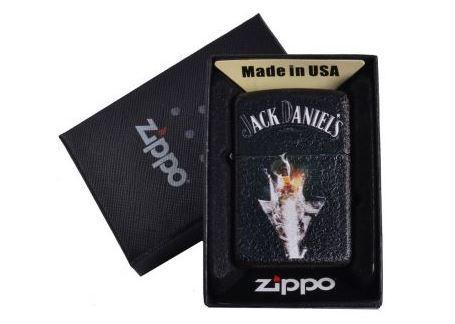 Зажигалка бензиновая Zippo Jack Daniels в подарочной упаковке №4735-3