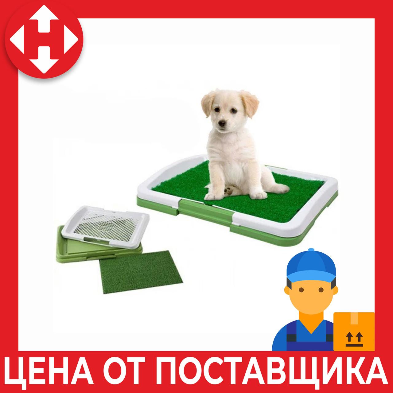 Лоток для собак с травой Puppy Potty Trainer Pad зелёный туалет для собак с доставкой по Киеву и Украине