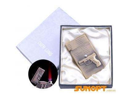 Зажигалка электронная в подарочной коробке P99 (Турбо пламя) №4060-1