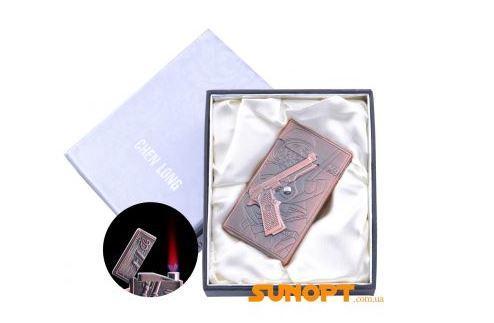 Зажигалка электронная в подарочной коробке M9 (Турбо пламя) №4060-4