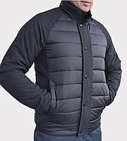 Чоловіча демісезонна коротка куртка чорного кольору KTL 46