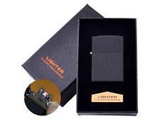 Електроімпульсна запальничка в подарунковій коробці LIGHTER (USB) №HL-137 Black