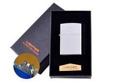 Електроімпульсна запальничка в подарунковій коробці LIGHTER (USB) №HL-136 Silver