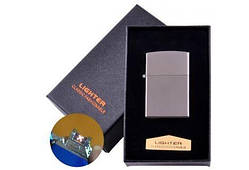 Електроімпульсна запальничка в подарунковій коробці LIGHTER (USB) №HL-136 Black