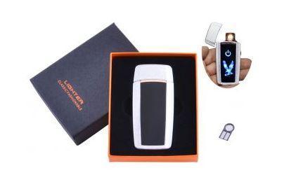 USB зажигалка в подарочной упаковке Орел (Спираль накаливания) №HL-55 White