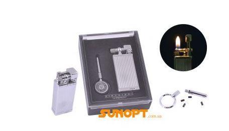 Зажигалка кремневая подарочная YIBAO №1428 Silver