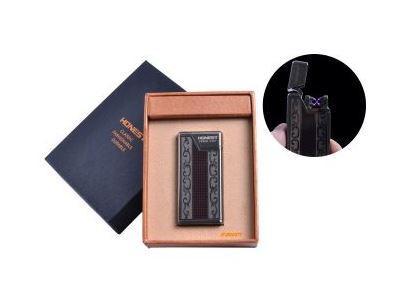"""USB зажигалка в подарочной упаковке """"Honest"""" (Электроимпульсная - две перекрещенные молнии) №4836-2"""